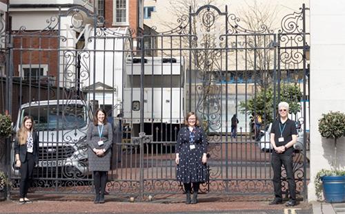 Het team van Aileen Rowan voor St. Mary's Hospital in Londen